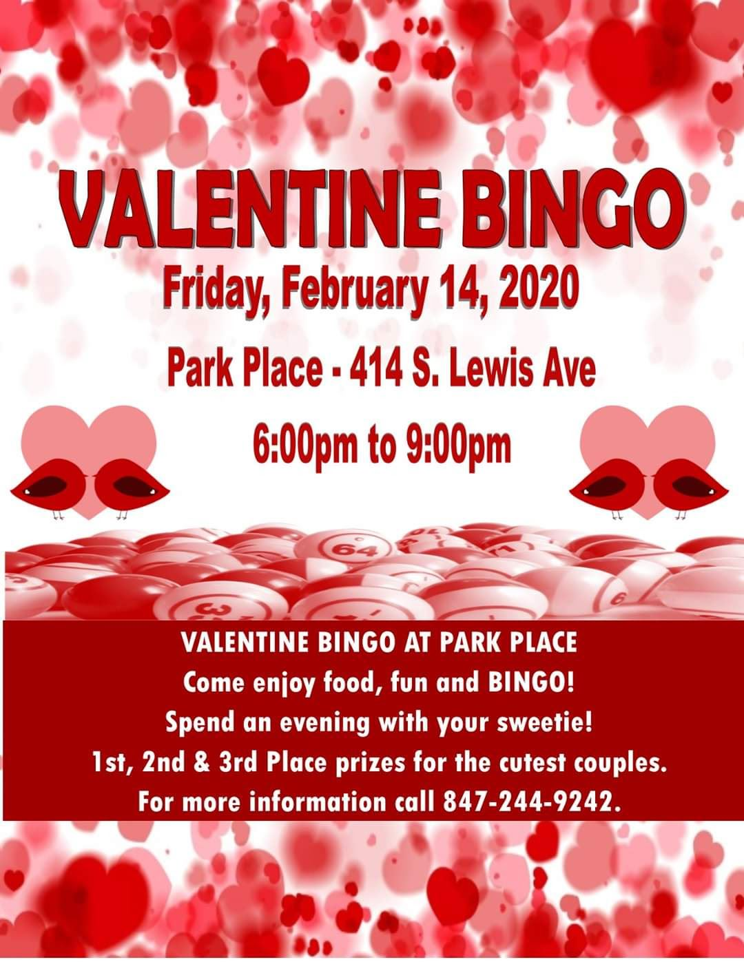 Valetine Bingo at Park Place