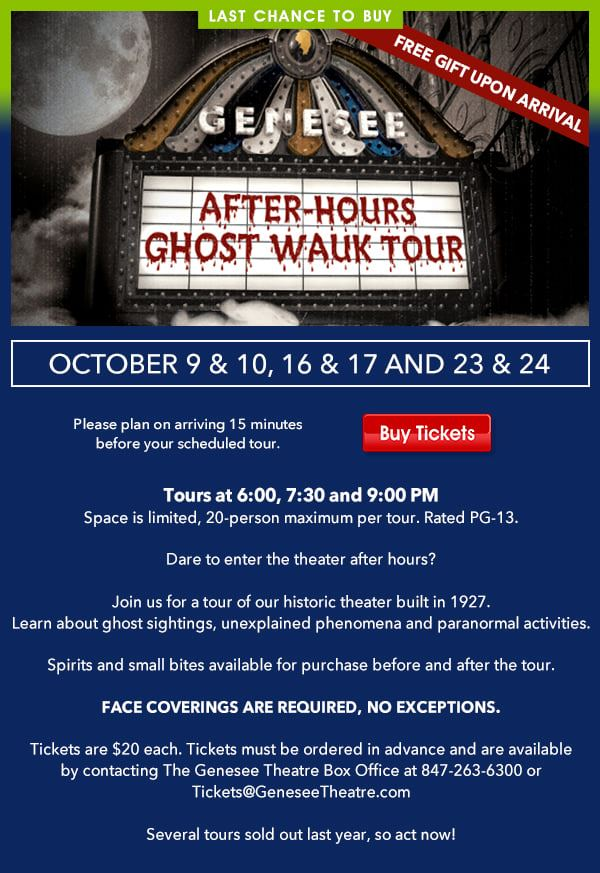 genesee ghost tours