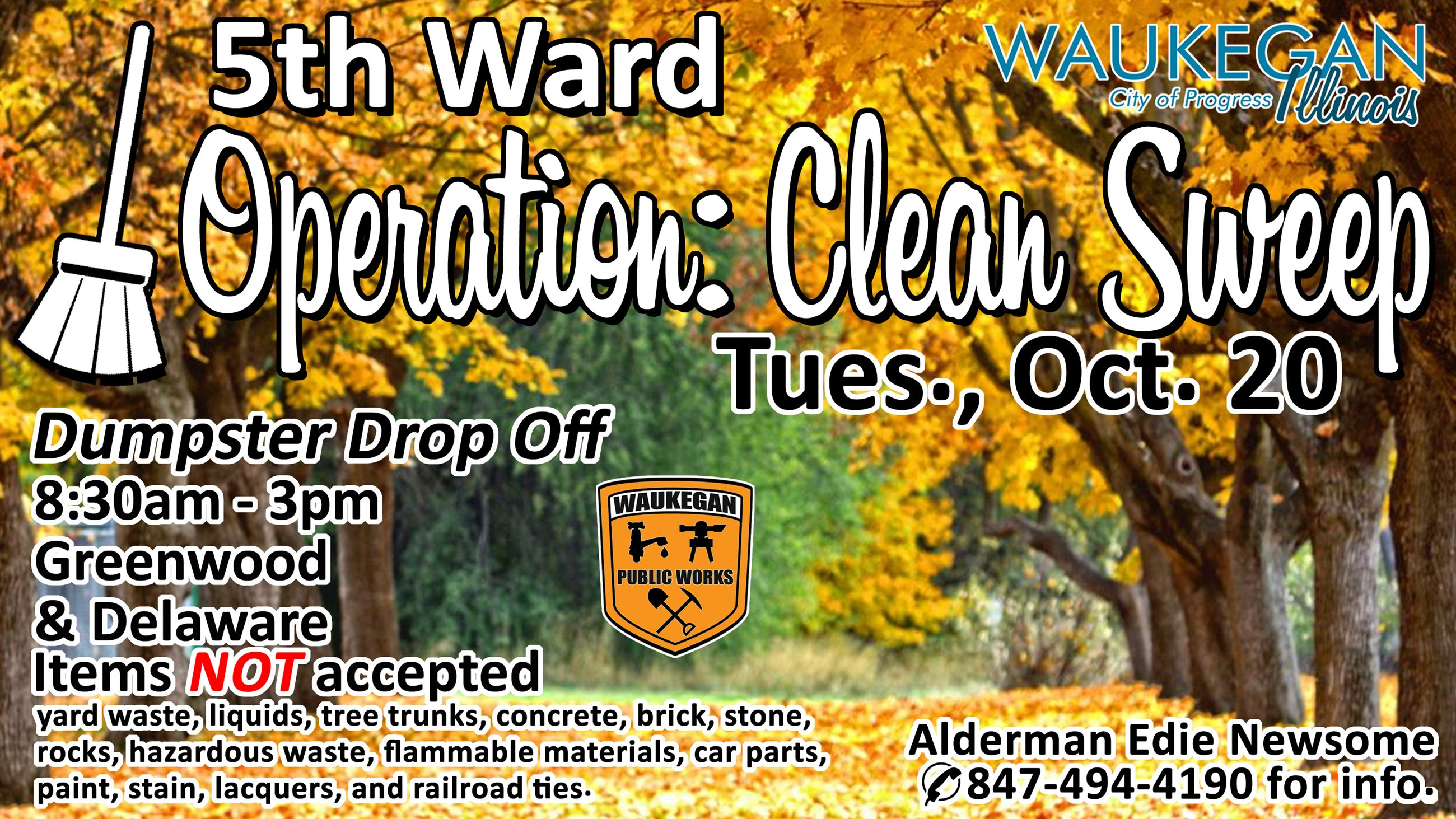 5th ward clean sweep october 20 2020