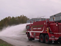 Fire Truck Shooting Water