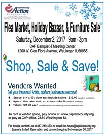 CAP Lake County flea market holiday bazaar and furniture sale