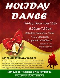 Holiday Dance at the Waukegan Park District
