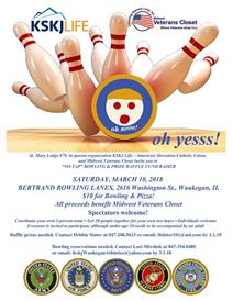 No Tap Bowling for Midwest Veterans Closet